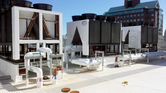 Figure 3: Air-Cooled Chillers Installed by The Arctic Chiller Group at a Hospital Campus