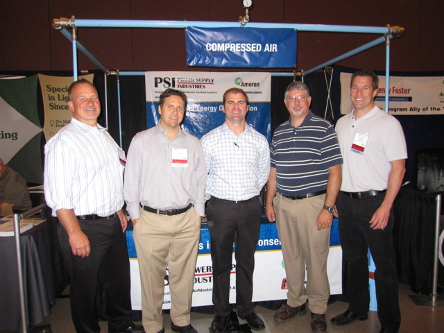 Jim Timmersman, Talbot Pratt, Dan Trachsel, Peter Faust, and Adam French from Power Supply Industries.