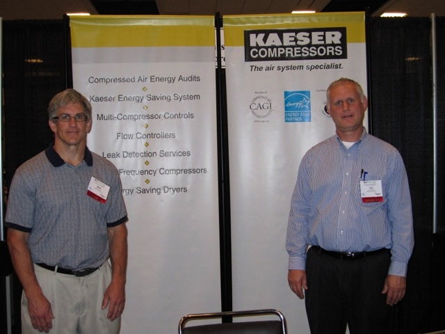 Mark Olson and Tim Mathews from Kaeser Compressors.