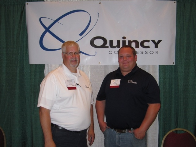 Brice Schultz and John Eckley from Quincy Compressor.